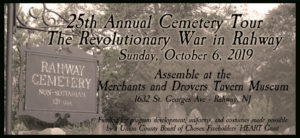Ghosts of the Past Cemetery Tour - The Revolution in Rahway @ Merchants and Drovers Tavern Museum