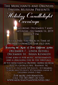 Candlelight Evenings 2019 @ Merchants and Drovers Tavern