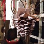 Festive Pinecone Ornament