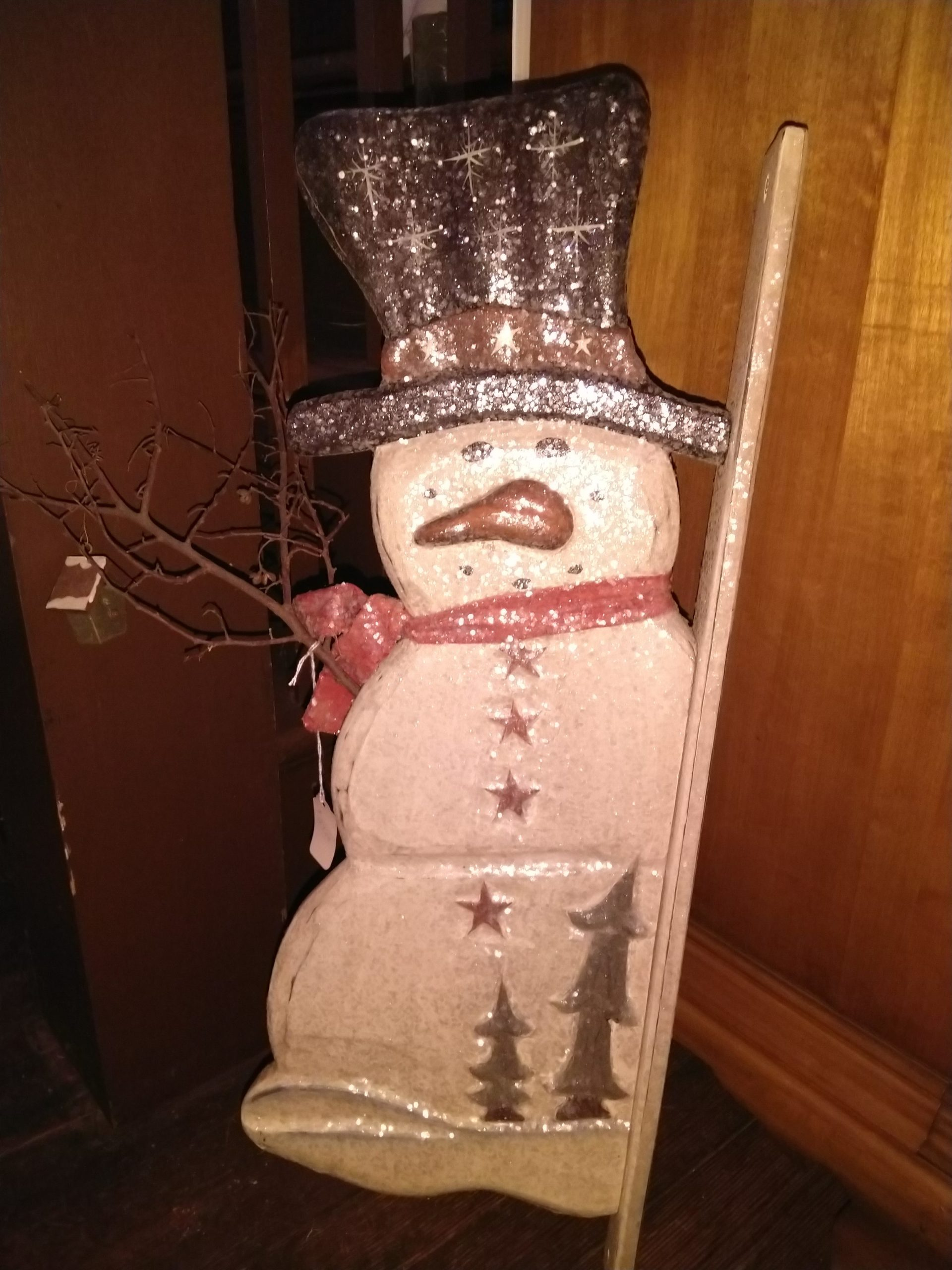 Snowman Decor in the Gift Shop