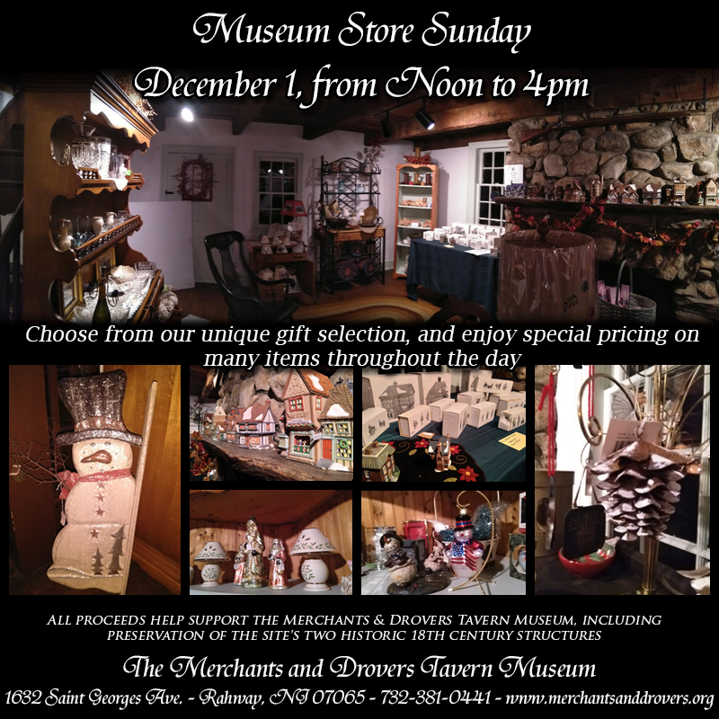 Museum Store Sunday is December 1, 2019
