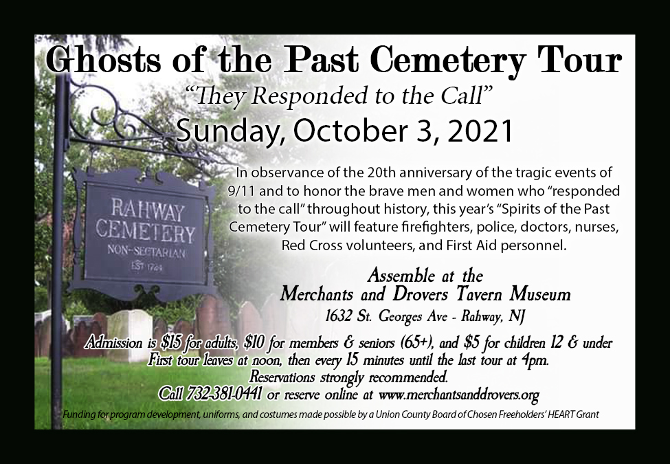 Ghosts of the Past Cemetery Tours 2020